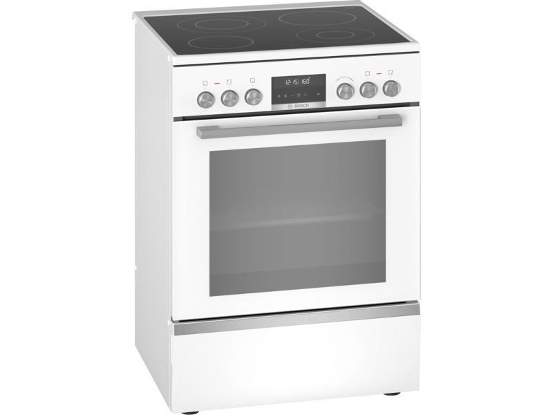 Cuisinière vitrocéramique 63l 4 feux blanc - hks79r220 hks79r220