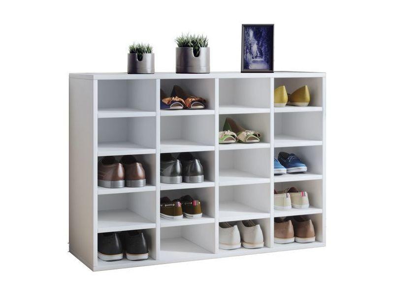 Meuble à chaussures blanc 20 cases