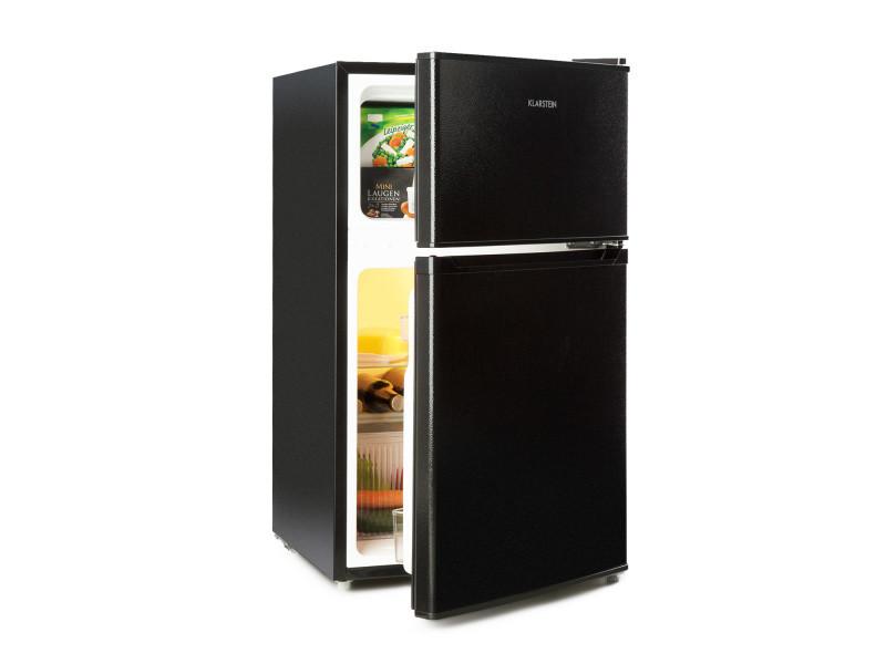 Réfrigérateur congélateur - klarstein big daddy cool - 4*, 87 litres (61+26), 42 db , classe a+ - noir DSM2-BigDaddy-BL