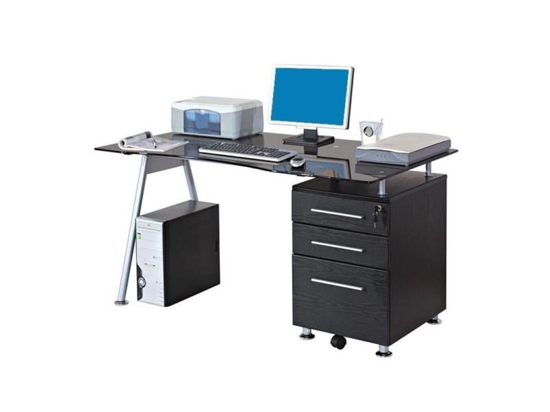 Bureau laque noir bureau en a plateau bureau laque noir but