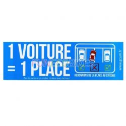 Sticker 1 voiture 1 place
