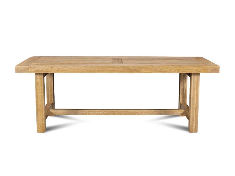 Table de ferme la bresse - bois chêne massif l220