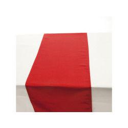 Chemin de table satin - 140 x 40 cm - rouge