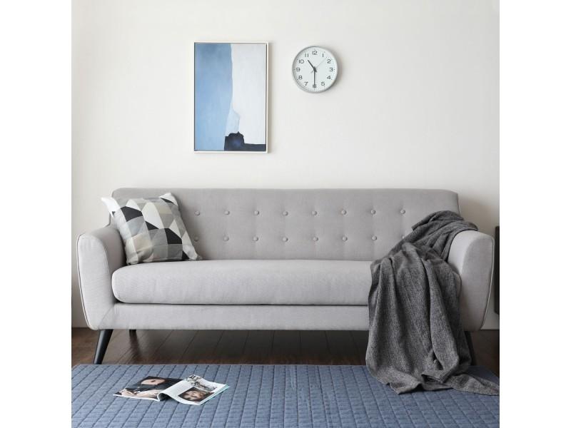 L helga   canapé scandinave 3 places gris clair 212562 - Vente de Canapé  droit - Conforama 16d38f7908bc