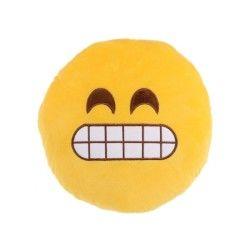 Peluche coussin moelleux emoji content