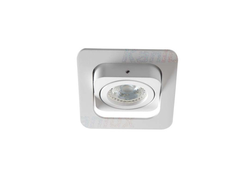 Support de spot orientable encastrable perçage 80x80mm carré blanc KL-26758