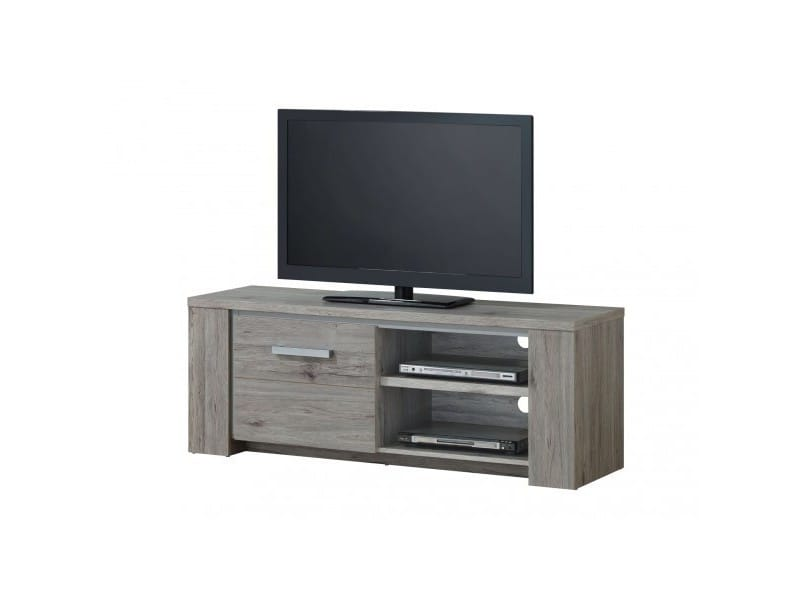 meuble tv 145 cm star l 145 x p 45 x h 54 cm ch ne gris vente de meuble tv conforama. Black Bedroom Furniture Sets. Home Design Ideas