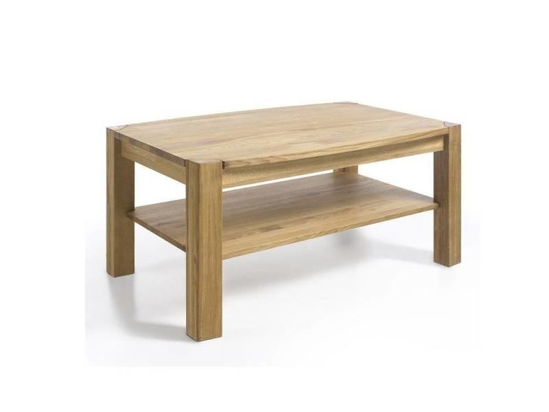 Table basse kalos en bois de chêne à noeud massif huilé 20100880067