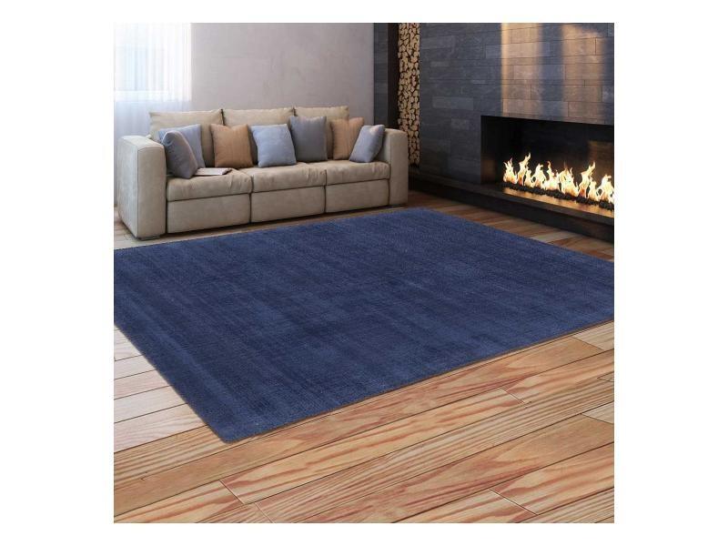Tapis grand dimensions neo uni bleu 140 x 140 cm tapis de ...