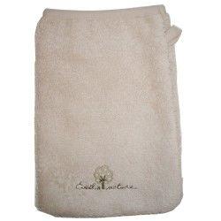 Gant de toilette eponge coton bio 16x21 cm