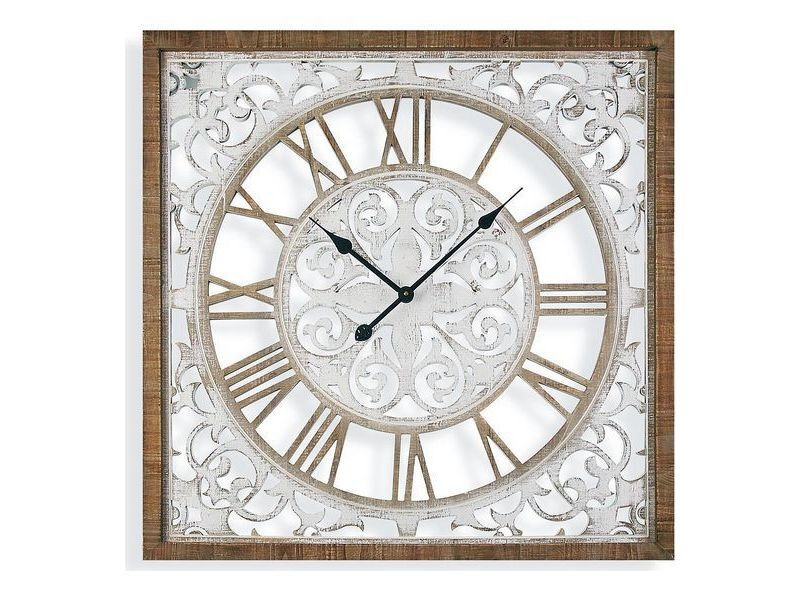 Horloges murales et de table magnifique horloge murale bois mdf (5 x 80 x 80 cm)