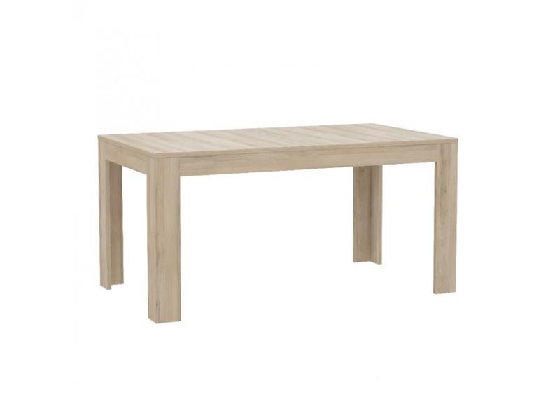 Table de repas extensible 160 / 206 cm finition chêne clair - milena