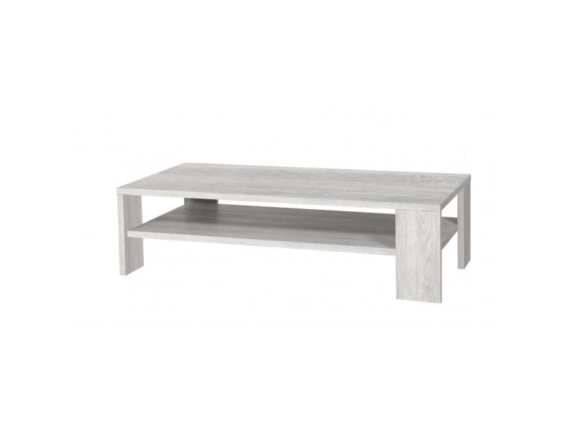 Table basse rectangulaire contemporaine chêne clair laurine