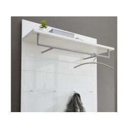 Vestiaire ouvert coloris blanc - dim : 97 x 144 x 30 cm - pegane -