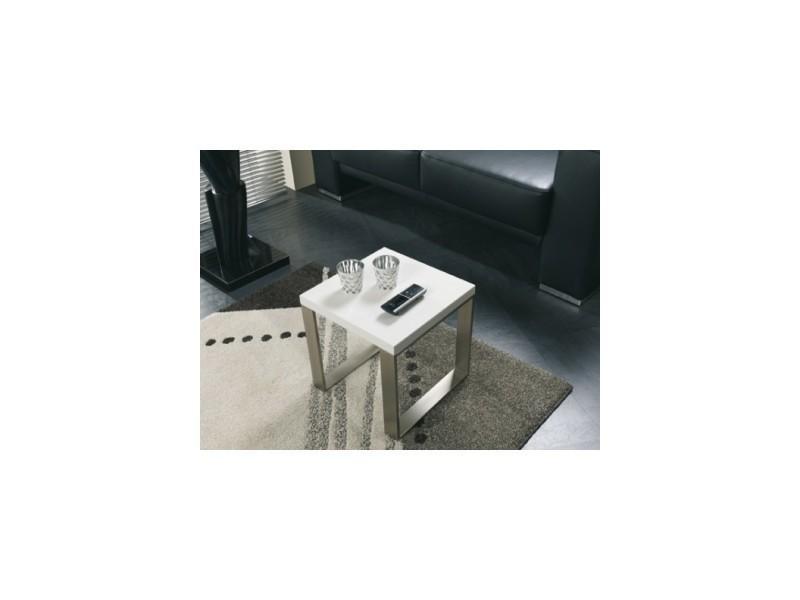 Bout de canapé petit modèle klass laqué blanc