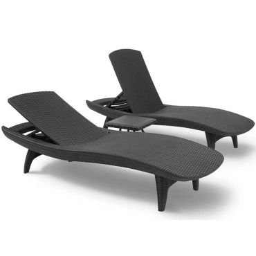Keter chaise longue pacific graphite 223564 420033 - Vente de KETER ...