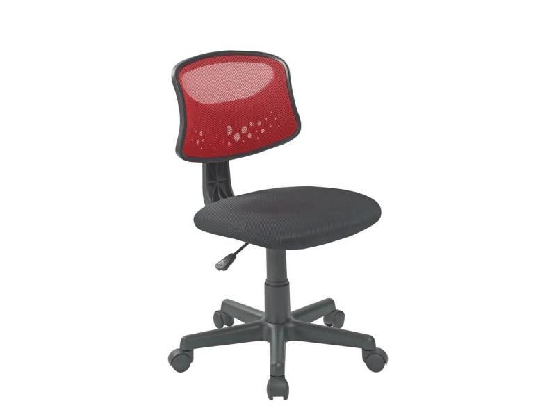 Kayelles faya chaise de bureau enfant rouge 532 faya rouge vente