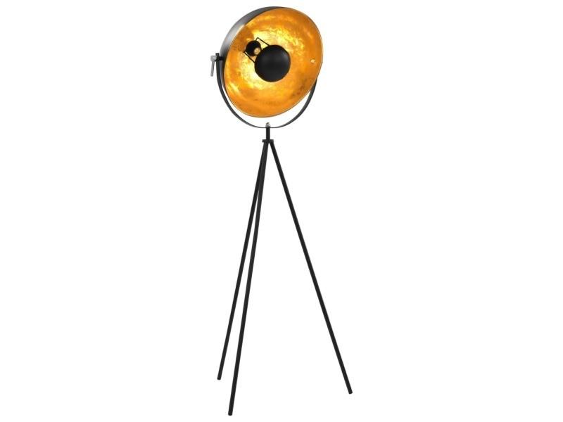 Chic luminaires edition vaduz lampadaire e27 noir et doré 41 cm