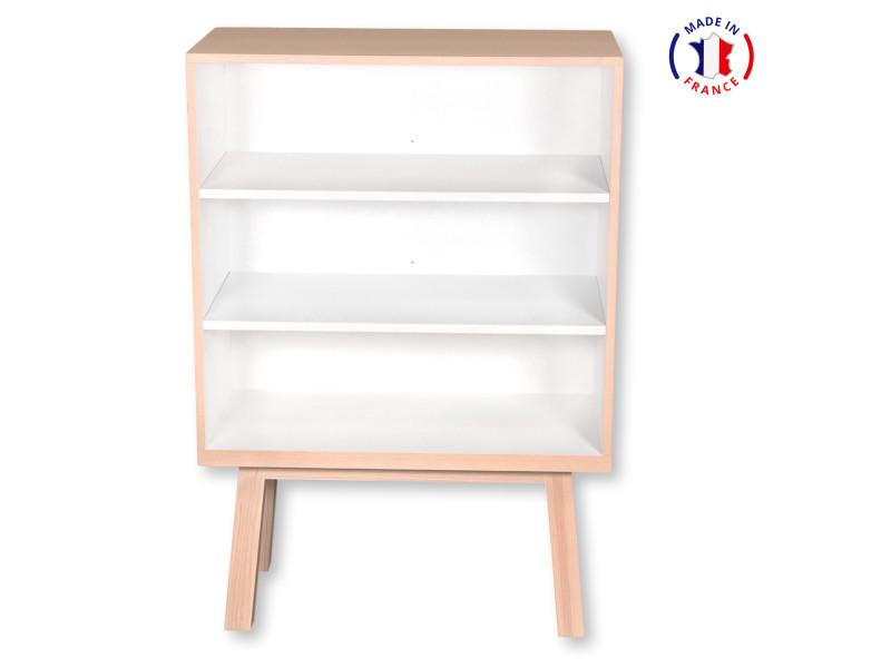 Etagère kube en frêne 90x46 cm blanc balisson - 100% fabrication française