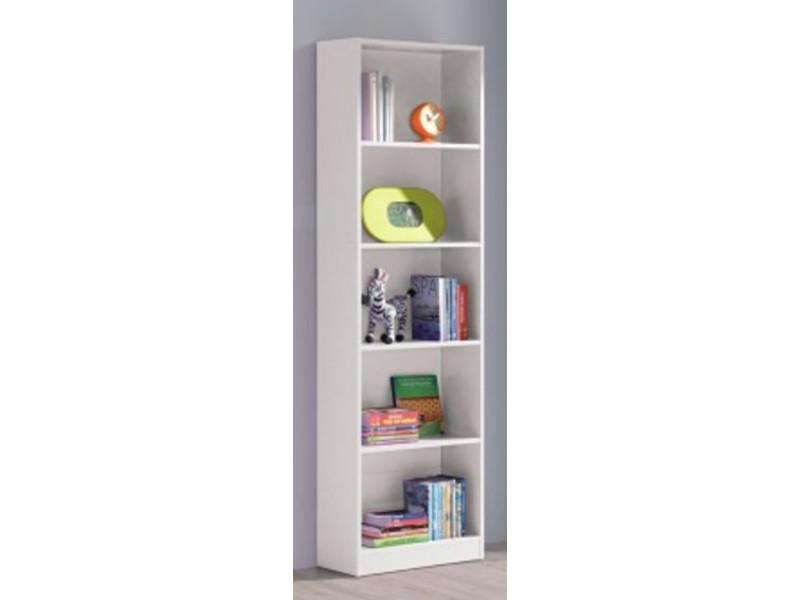 Étagère avec 5 cases coloris blanc artic - 180 x 52 x 25 cm -pegane-