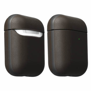 Coque airpods cuir premium résistant à l'eau compatible qi