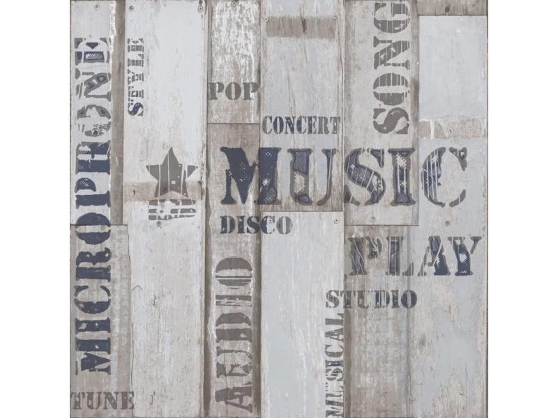Urban friends & coffee papier peint planches de bois mots bleu et gris 425304