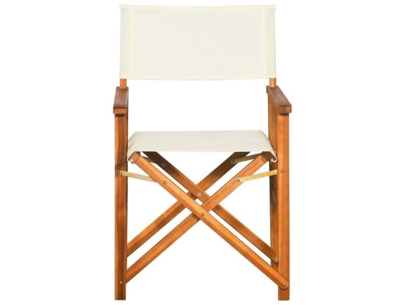 Vidaxl chaise bois massif d'acacia 45596