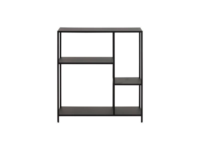 Console design en métal noir l80 cm podium