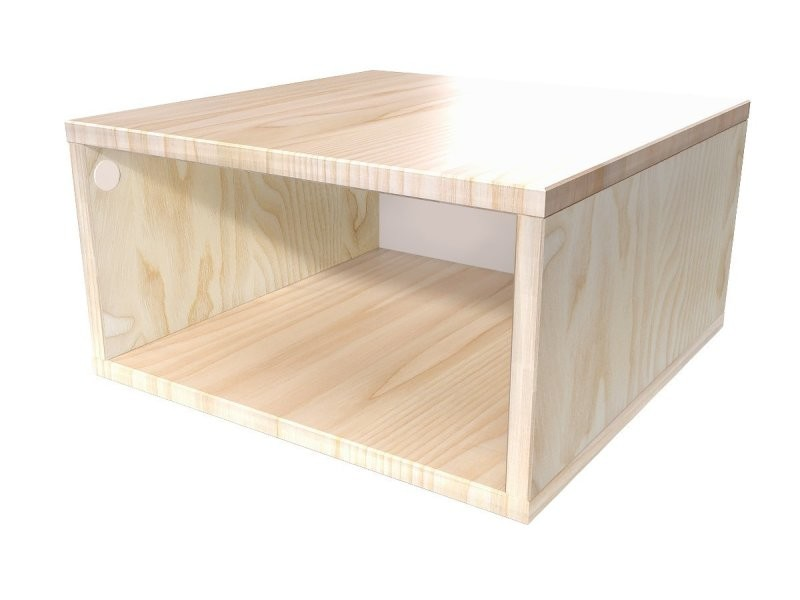 Cube de rangement 50x50 cm bois 50x50 vernis naturel CUBE50-V - Vente de ABC MEUBLES - Conforama