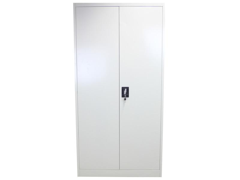 Casier de bureau gris clair métallique 180cm