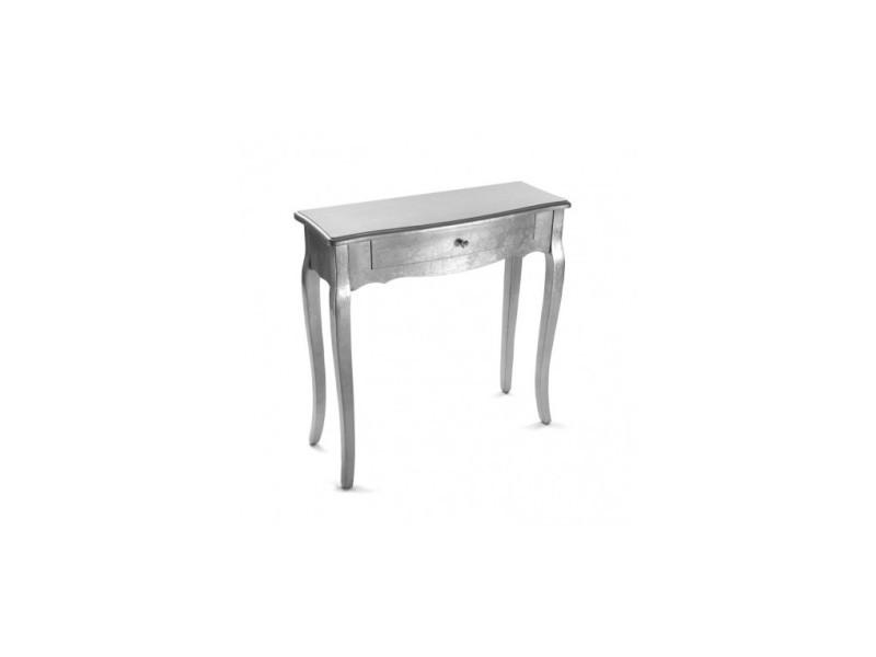 Console design argentée 1 tiroirs cagliari - Vente de VERSA - Conforama 56988fb29c1f