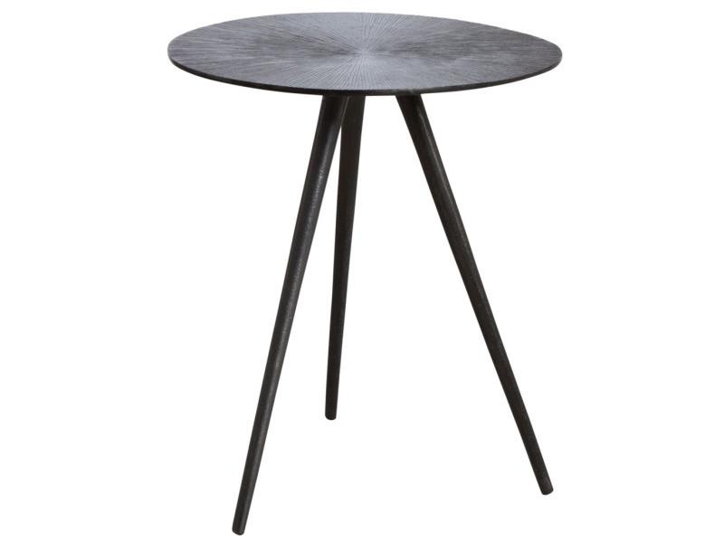 Table ronde métal zinc antique diamètre 40cm
