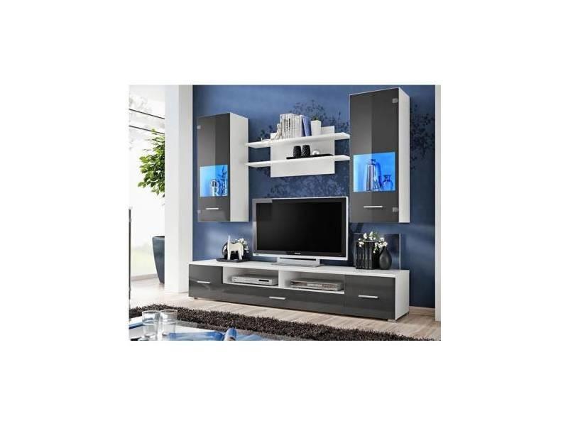 Ensemble meuble tv corte ii gris - eclairage: sans leds