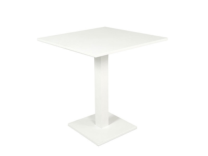 Table pliante carrée en alu blanc 70 x 70 cm otrante