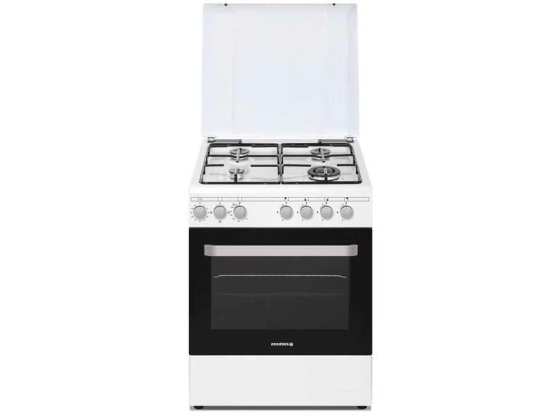 Rosieres - rgg663csw/e cuisinière prodige 60cm 4g four gaz cn catalyse blanc