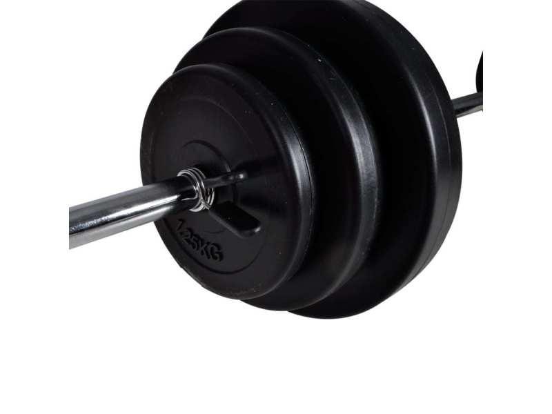 Vidaxl haltère 2 pcs 30,5 kg 90377