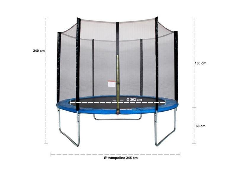 Trampoline maxi eco trampoline ø 250 cm - bleu - avec filet