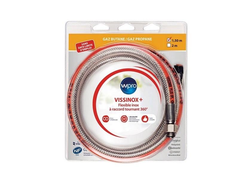 Tuyau gaz butane propane inox 1.5 m reference : 484010678155