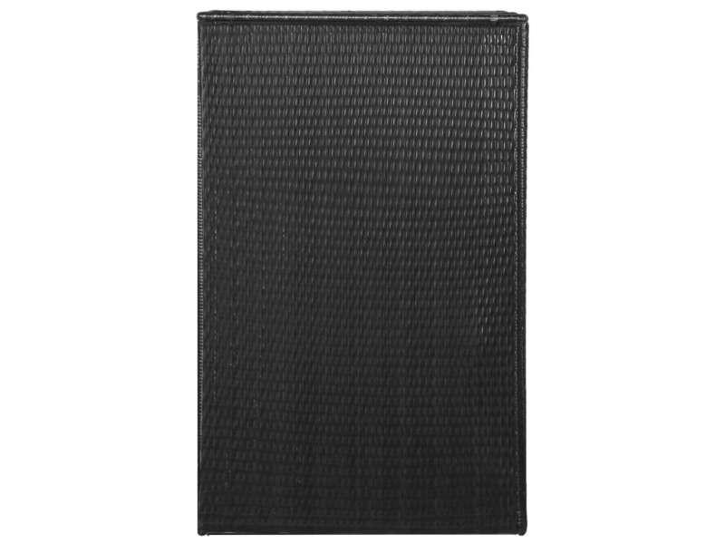 Vidaxl abri de poubelle simple noir 76x78x120 cm résine tressée 46728