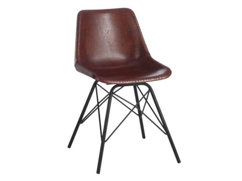 Paris prix - chaise design cuir & métal \
