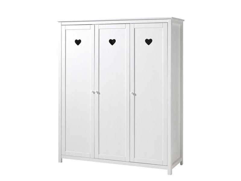 Vipack amori armoire 3 portes laqué blanc AMKL1314