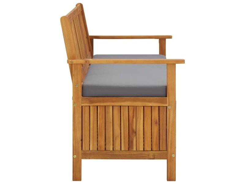 Vidaxl banc de rangement de jardin 120 cm bois d'acacia solide 310276