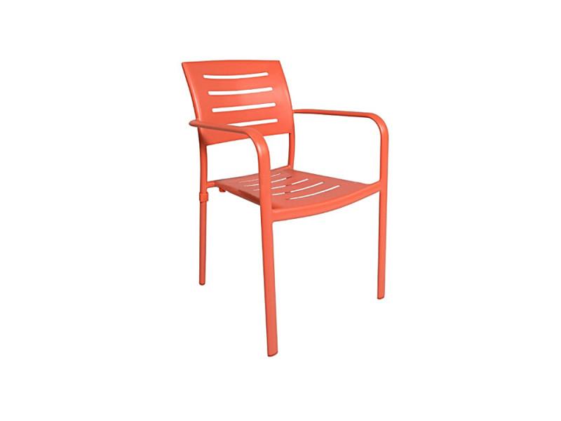 Chaise avec accoudoirs en aluminium orange brisbane