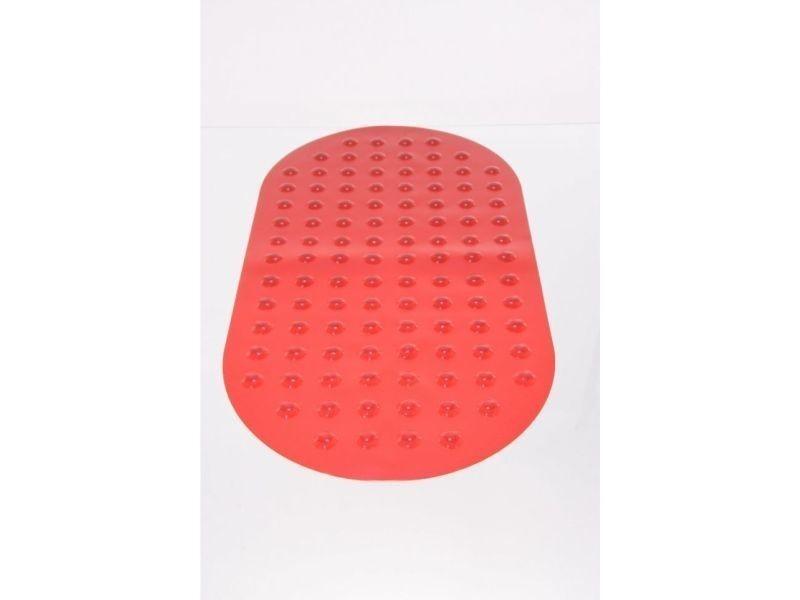 Fond de baignoire ovale rouge