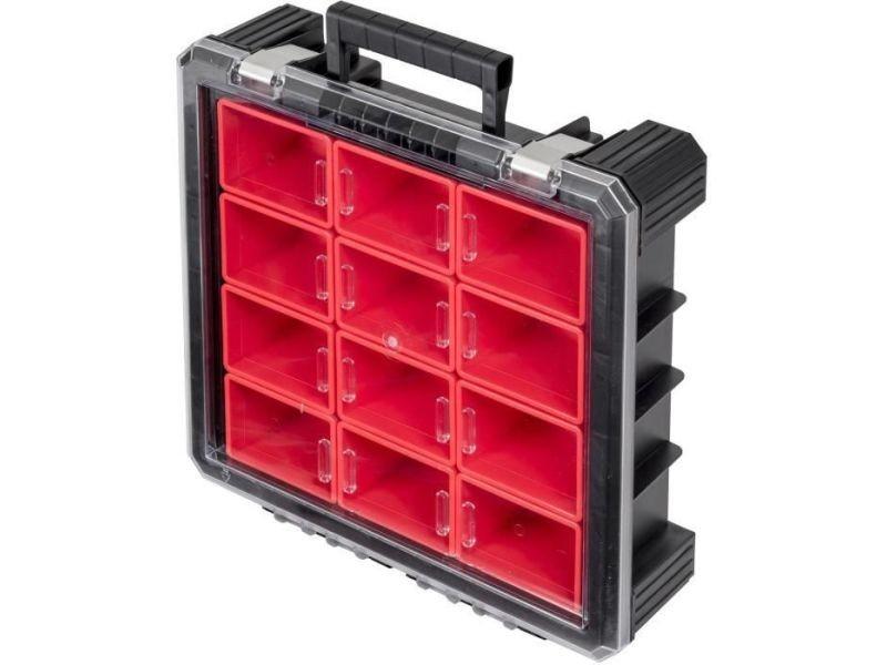 Boite de rangement - bac de rangement outils (vide) ks tools mallette organiseur scm a 12 compartiments amovibles