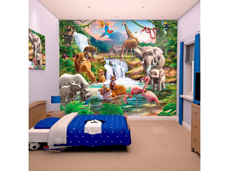 Papier Peint Enfant Le Monde De La Jungle Walltastic