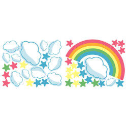 Stickers chambre bébé arc en ciel