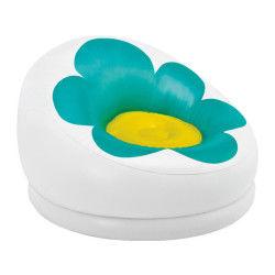 Fauteuil gonflable fleur - vert