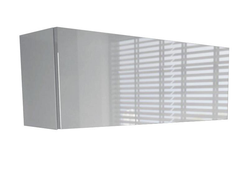 Meuble suspendu blanc mat façade laquée 80 cm