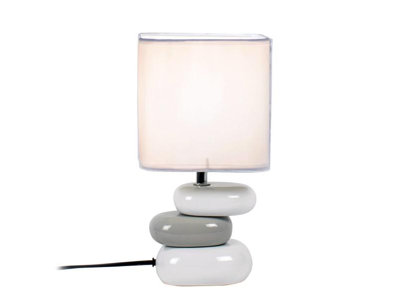 Lampe galet aulan blanche en céramique - Vente de KERIA LUMINAIRES -  Conforama 63b383d00362